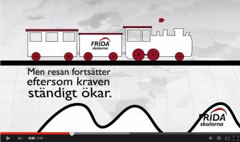 Tåget som symboliserar Fridaskolan